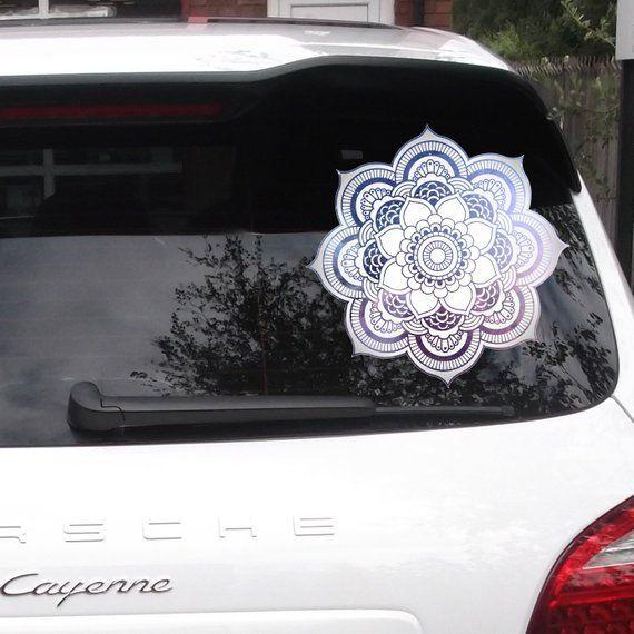 Watercolor Mandala Mandala Car Sticker Car Window Decal Boho