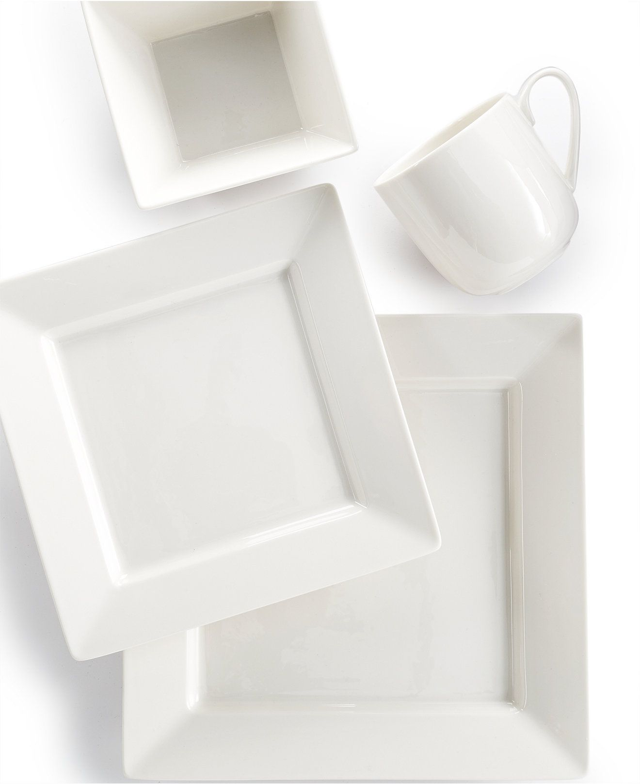 [WANT 2 MORE] Martha Stewart Collection Avenue Square Whiteware 4-Piece Place Setting - Casual Dinnerware - Dining u0026 Entertaining - Macyu0027s  sc 1 st  Pinterest & WANT 2 MORE] Martha Stewart Collection Avenue Square Whiteware 4 ...