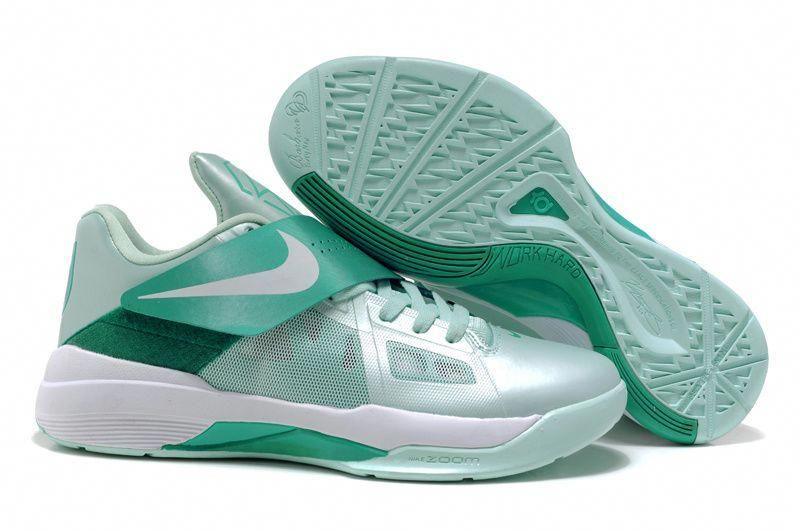 5e1aad7c1ff4 Nike Zoom KD IV Kevin Durant Shoes Jade White  bestbasketballshoes ...