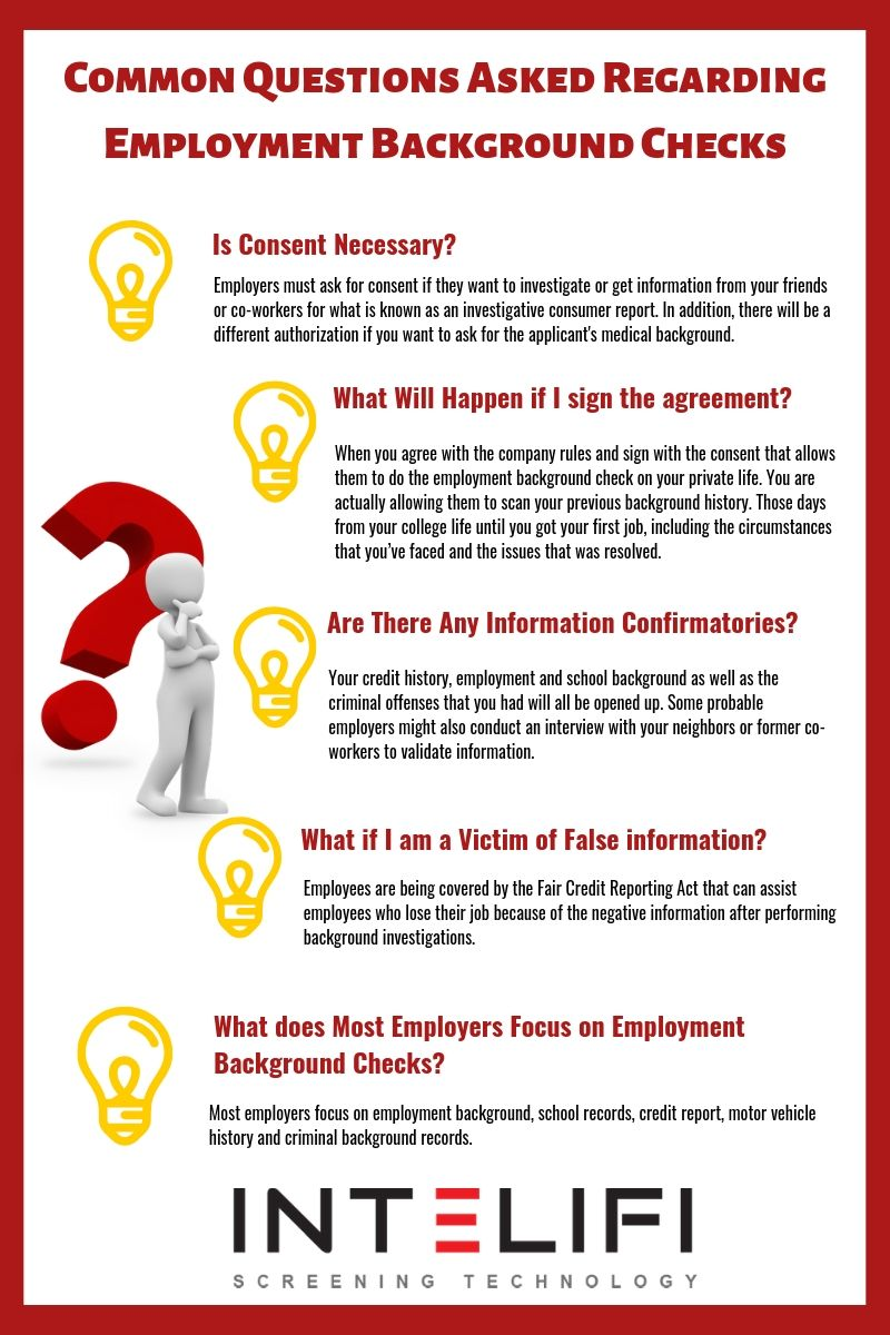 Common Questions Asked Regarding Employment Background Checks Employment Background Check Background Check This Or That Questions