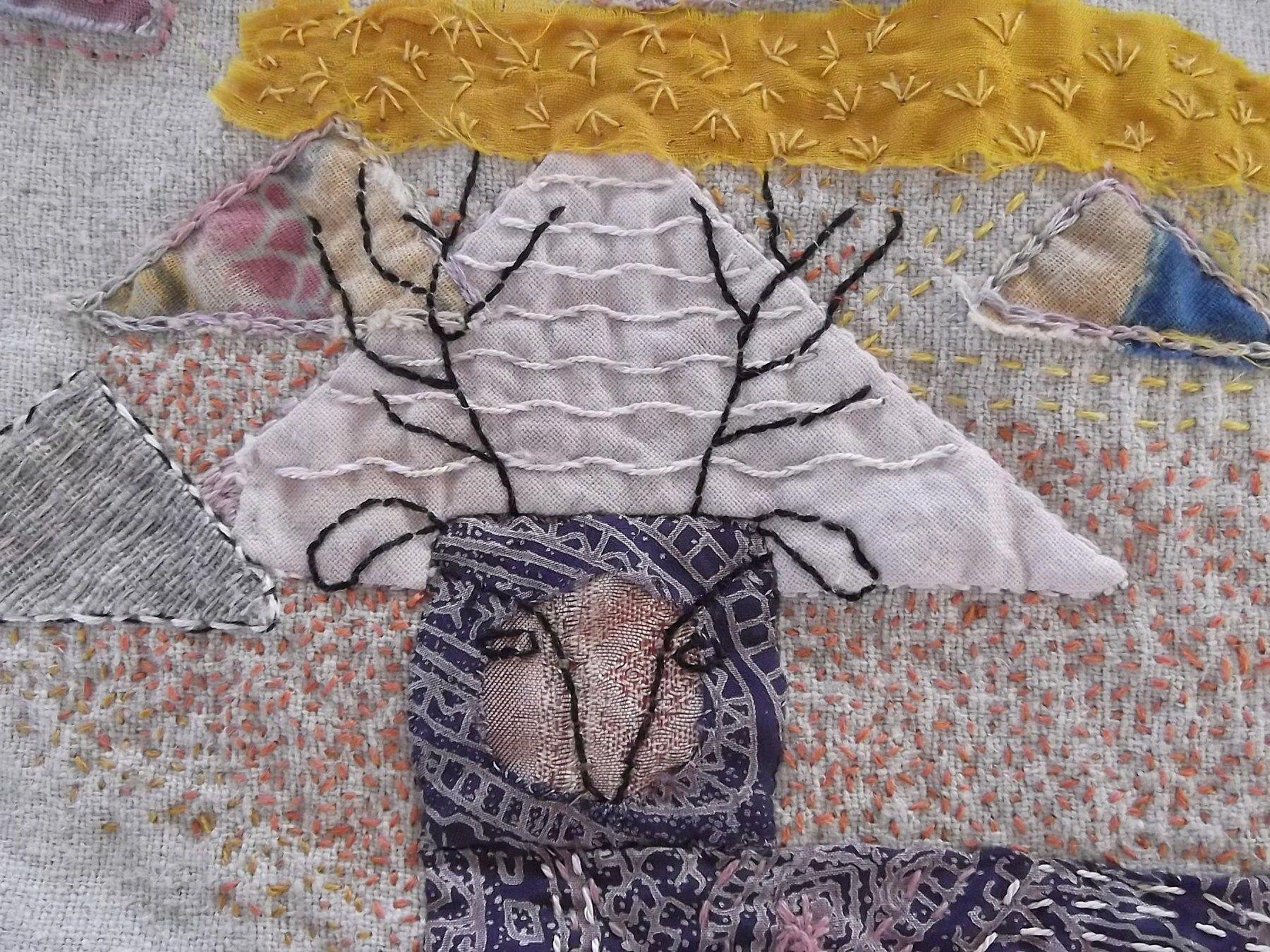 wednes2 Quilting studio, Textiles, Slow stitching