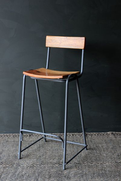 the soho bar stool is a solid graphite grey metal and wood stool the soho bar