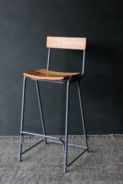 The Soho Bar Stool Is A Solid Graphite Grey Metal And Wood Stool The Soho Bar Stool Is A Robust Stylish Chair Bar Stool Furniture Kitchen Bar Stools Bar Stools