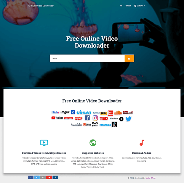 How To Make All In One Video Downloader Website For Youtube Facebook Tiktok Etc Pinterest Video Video Online Buzzfeed Video