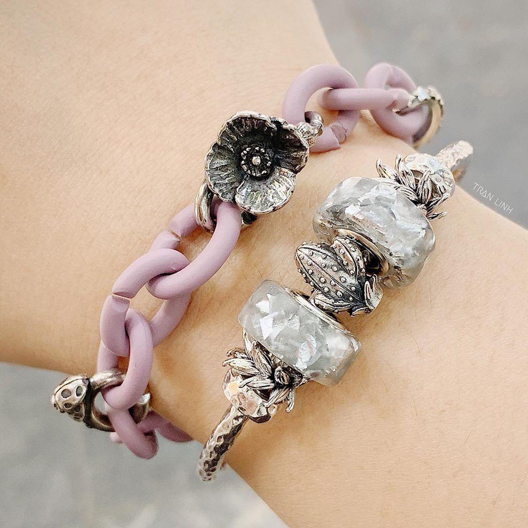 Tran Linh On Instagram Xjewellery Purple Grey Phyajewelry Aquahandmade Gift Happybeads Cactus Pandora Charm Bracelet Charm Bracelet Jewelry