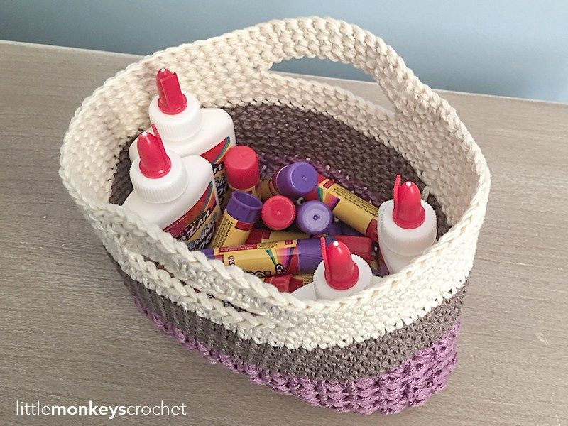 Huntley Gift Bag / Basket Crochet Pattern Free teacher ...