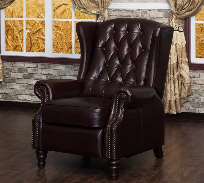 Lazzaro C9016 15 Tufted Wing Back Recliner