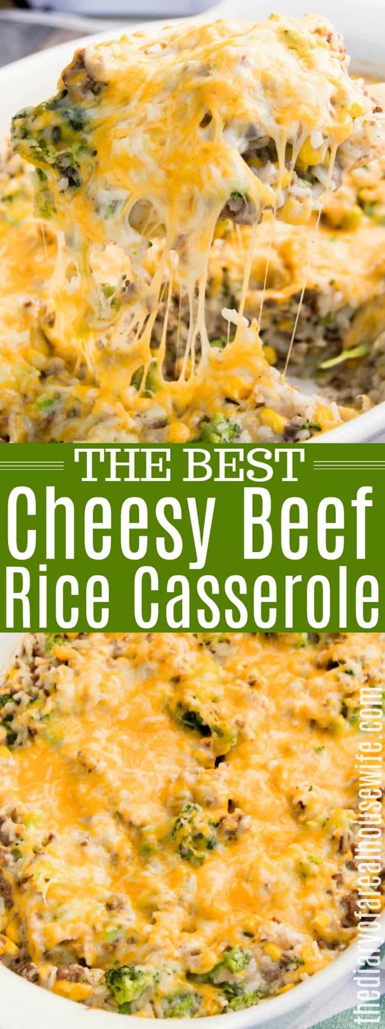 Beef and Rice Casserole #hamburgercassarole