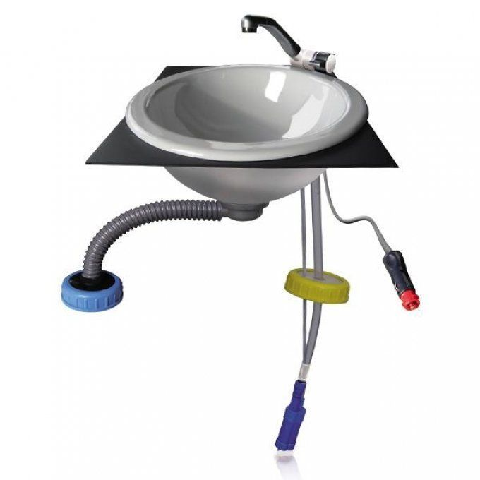 Moducamp Wasser Set Adapterplatte Wasserhahn Waschbecken Tauchpumpe