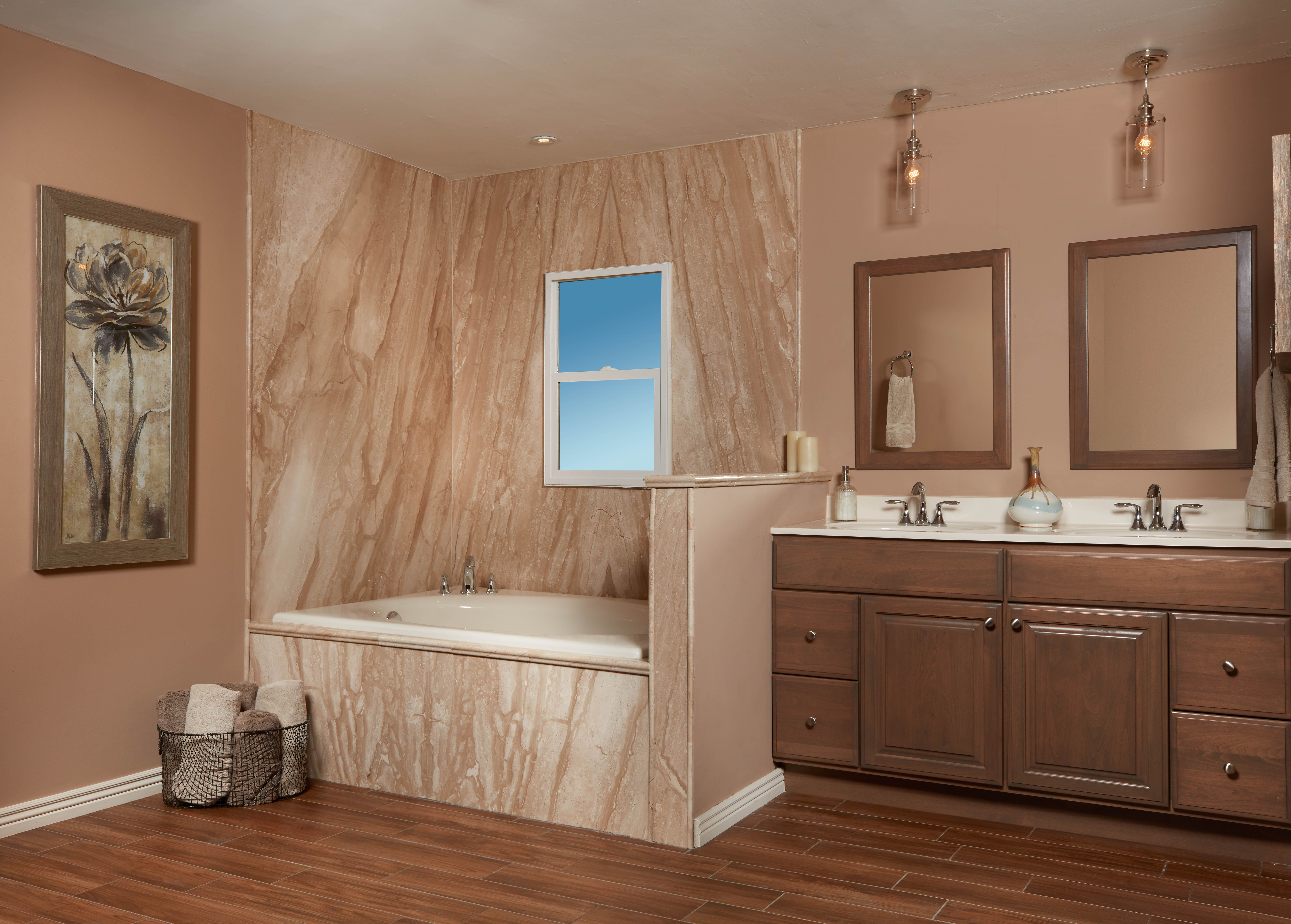 French Mocha Tub Surround Complete Bathroom Remodel Bathrooms Remodel Bathroom [ 5666 x 7918 Pixel ]