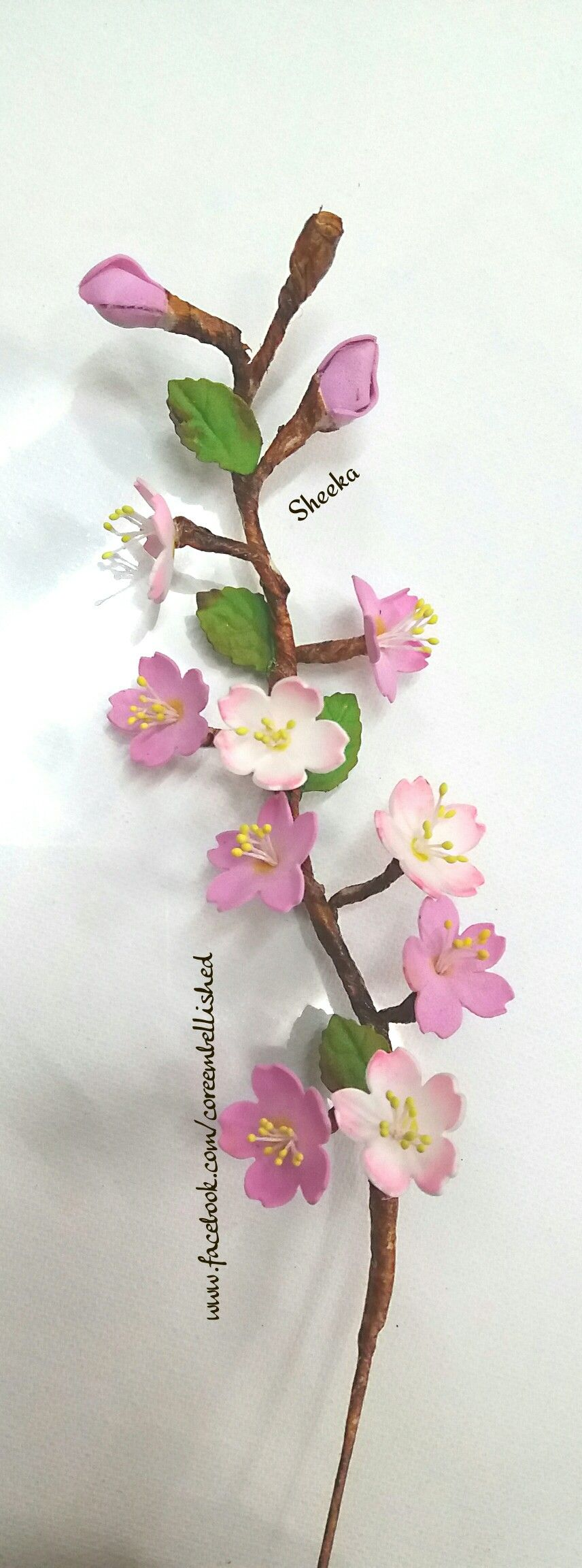Cherry Blossom Foamiran India Cherry Blossom Blossom Handmade Crafts