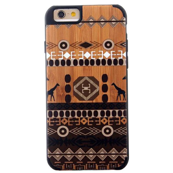 LAX Gadgets iPhone 6 Wood Case (70 AUD) ❤ liked on Polyvore featuring accessories and tech accessories