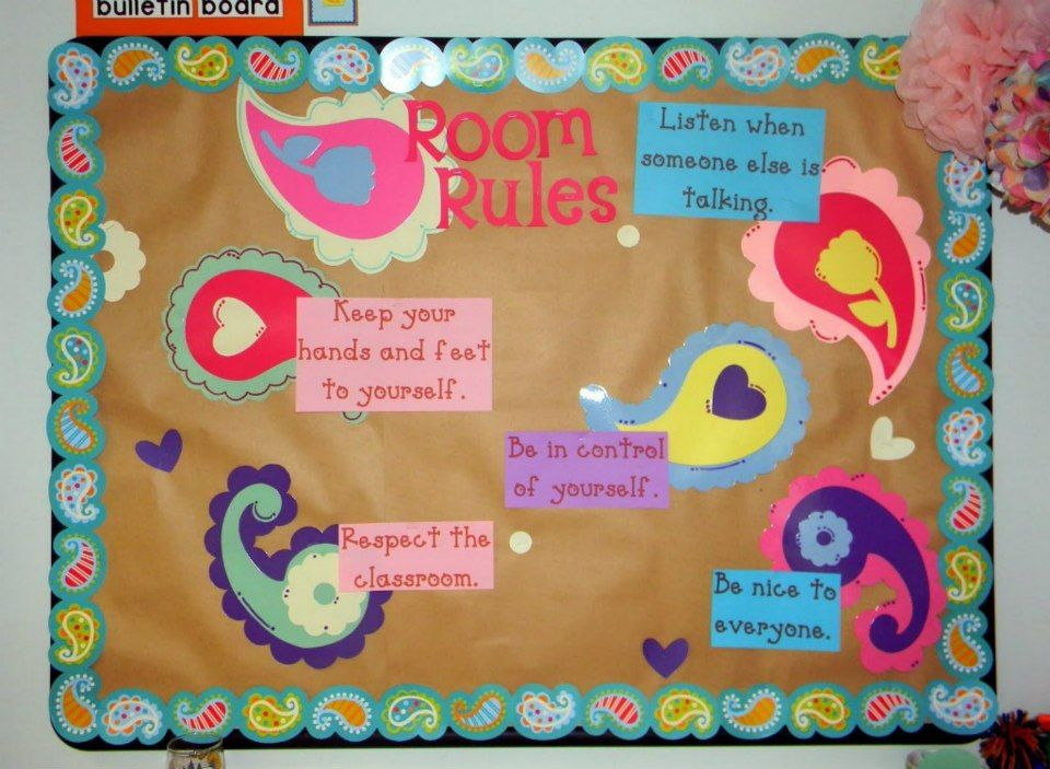 Classroom Notice Board Ideas ~ Classroom decorating themes rules bulletin