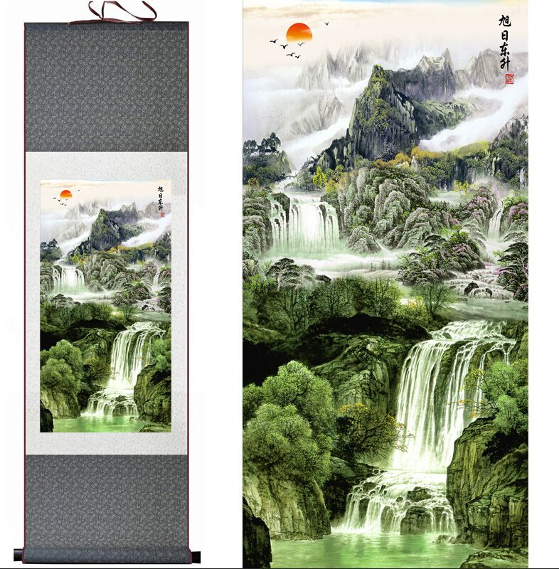 Mountain and River painting Home Office Decoration Chinese scroll