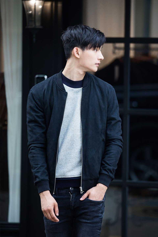 Navy Bomber Jacket Styles In 2019 Korean Fashion Men Mens