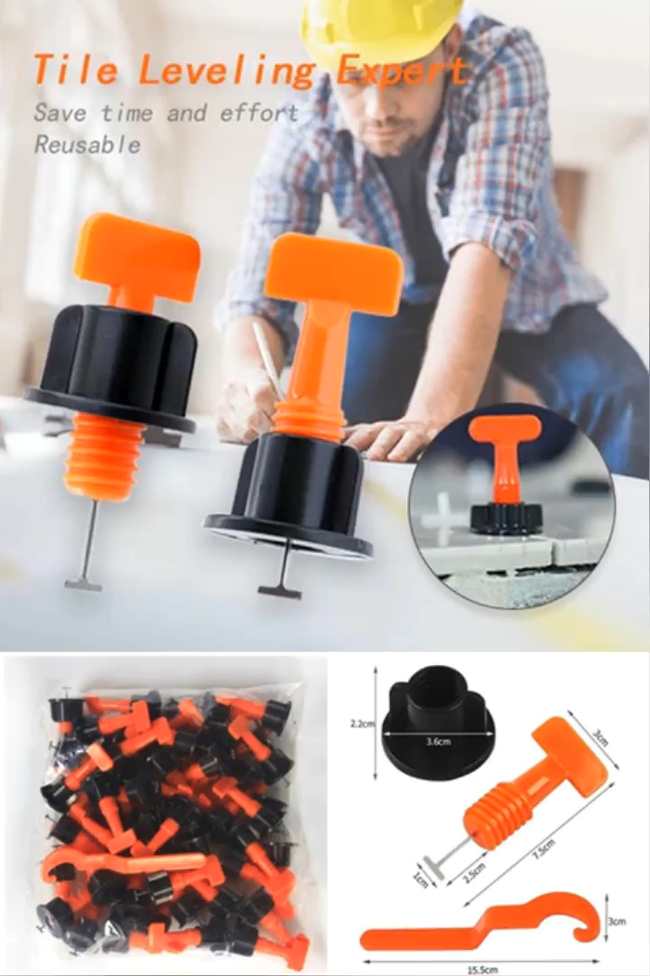 This Reusable Anti Lippage Tile Leveling System Which Easily Lay Perfect Titles On Any Diy Project Video In 2019 Tile Leveling System Tiling Tools Home Tools