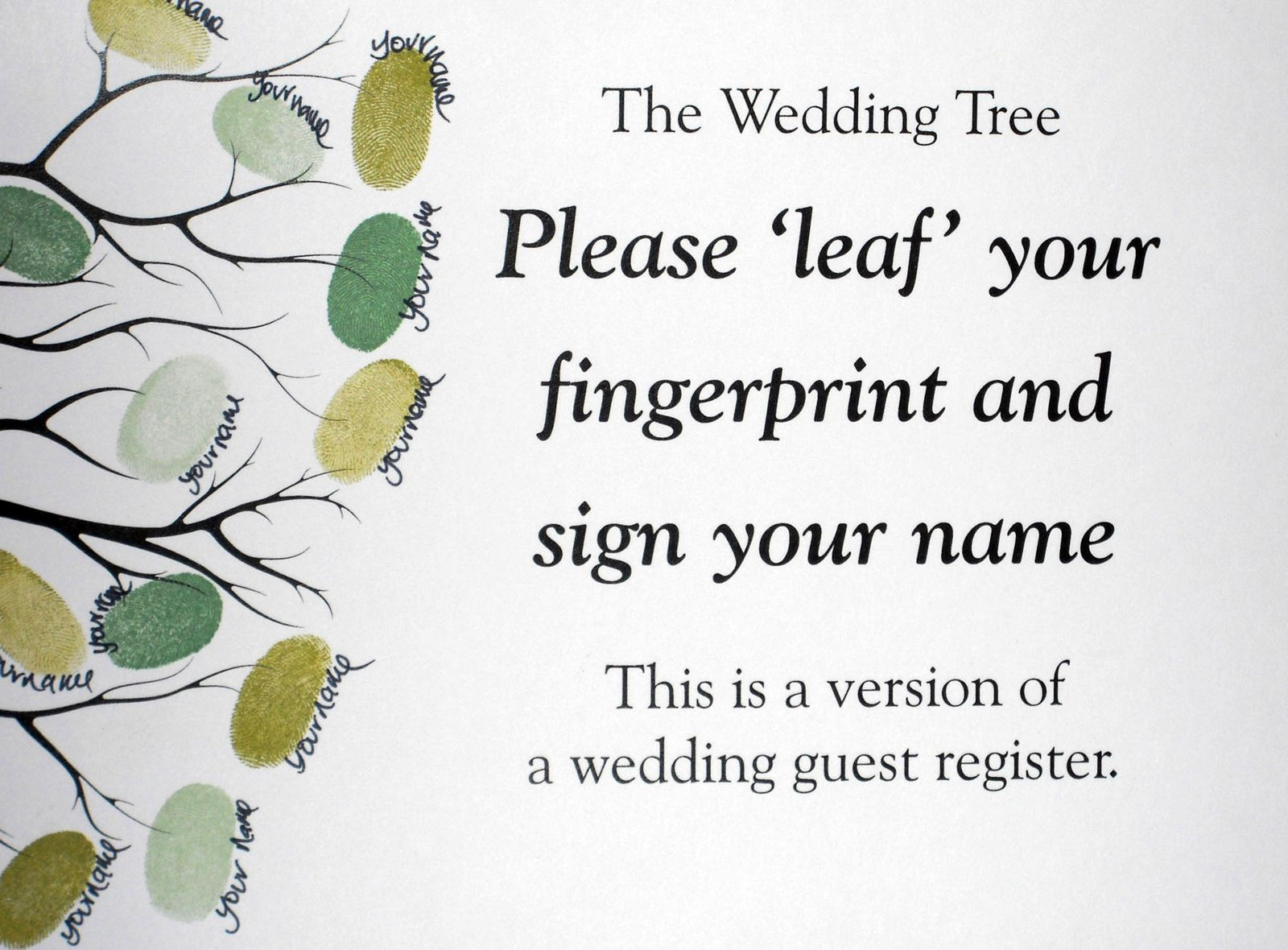 Fingerprint guestbook tree wedding or event jasmine design fingerprint guestbook tree wedding or event jasmine design wedding event stationery sciox Images