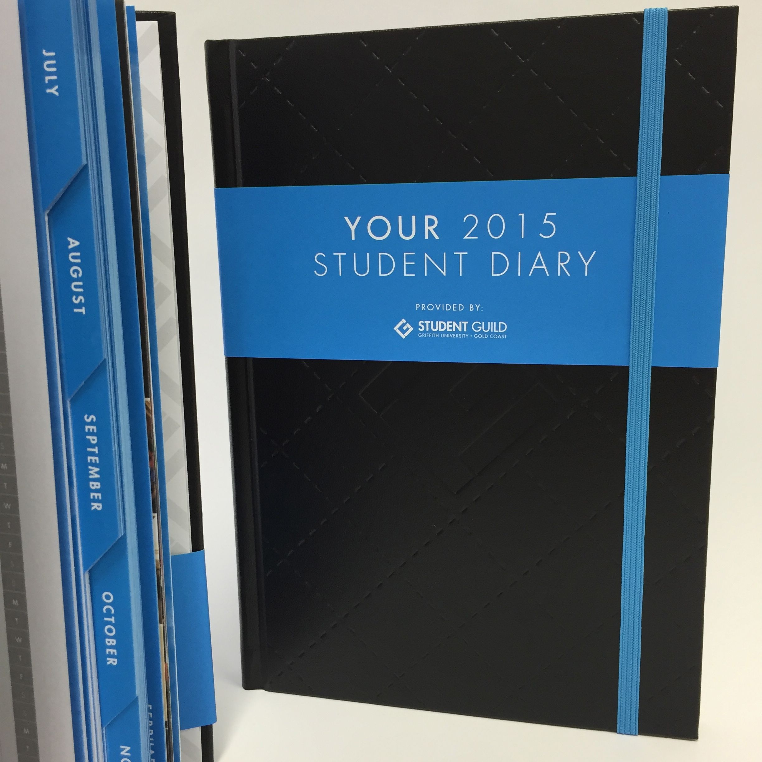 griffith uni union 2015 diary print production casebound with
