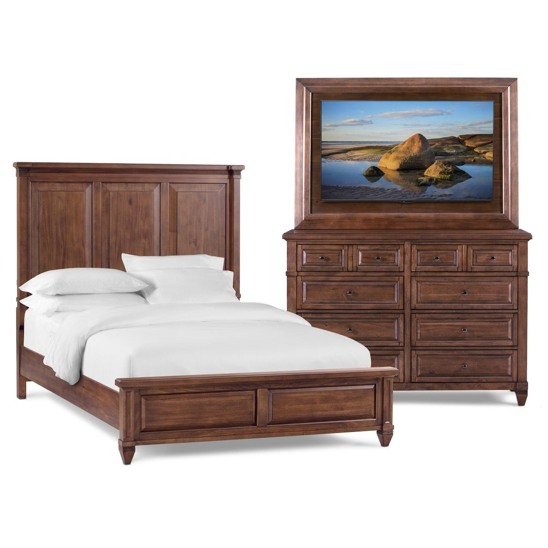 Rosalie 5-Piece Bedroom Set With Dresser And TV Mount