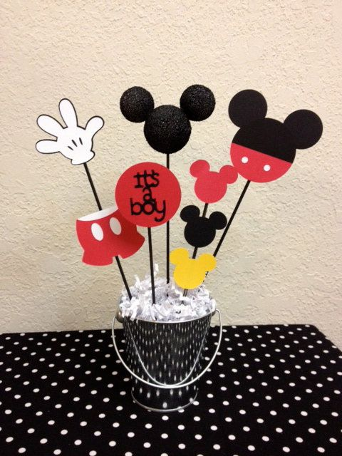 Lovely Mickey Mouse Baby Shower Centerpiece Itu0027s A Boy By TheGirlNXTdoor