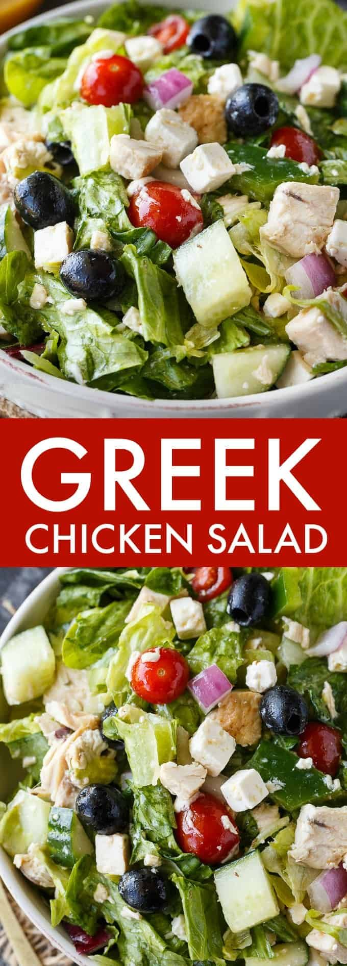 Greek Chicken Salad Recipe Greek Chicken Salad Greek Chicken Pot Recipes Healthy