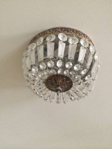 Vintage french empire crystal chandelier flush basket ceiling light vintage french empire crystal chandelier flush basket ceiling light fixture aloadofball Choice Image