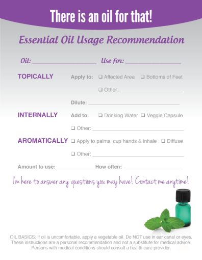 425 x 55 essential oil recommendation notepads 50