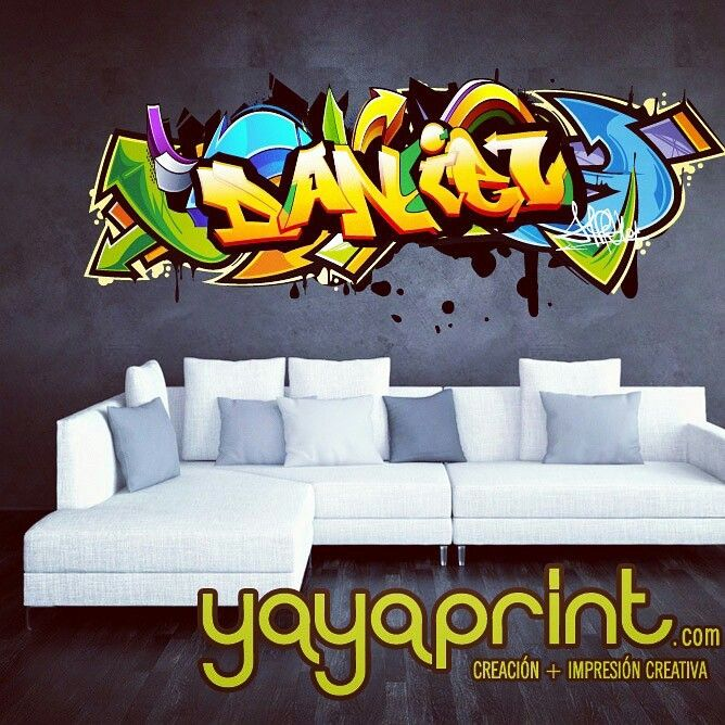 Vinilo Adhesivo De Graffiti De Tu Nombre Varios Modelos Estilos - Graffiti custom vinyl stickers