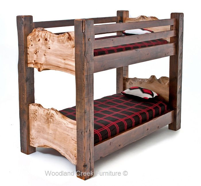 Reclaimed Wood Bunk Bed Bunk Beds Pinterest Bunk Beds Rustic