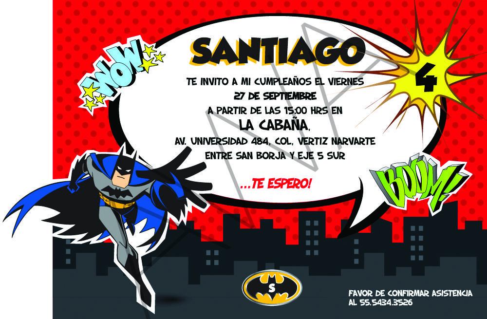Invitaciones De Cumpleaños De Batman Para Descargar Gratis 15 en HD Gratis SANTY en 2019