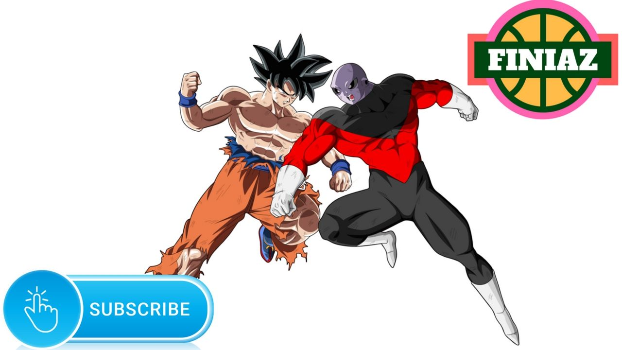 Coloring Pages For Kids: Goku Vs Jiren