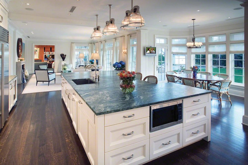 Kitchen Island Ideas Open Floor Plan high-tech kitchen with large island - wouldn't it have been more