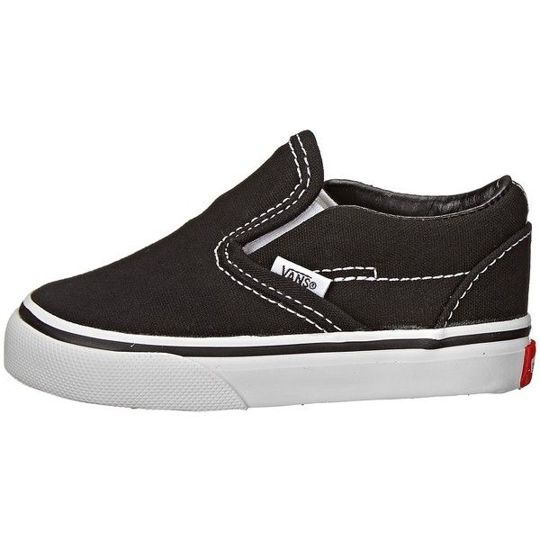 3409e6e6af0 Vans Kids Classic Slip-On Core (Toddler) ( 30) ❤ liked on Polyvore  featuring shoes