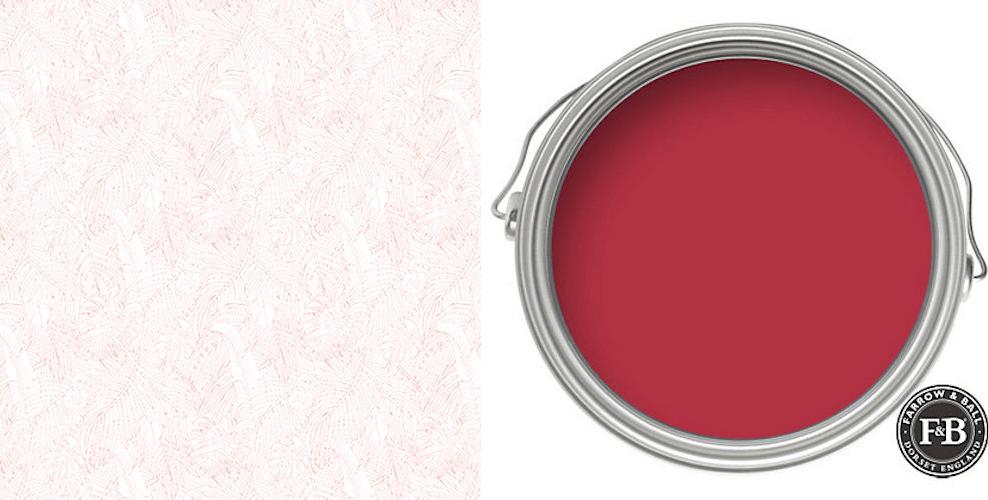 papier peint et peinture 10 d couvrez une tr s belle association dans les tons rouges avec le. Black Bedroom Furniture Sets. Home Design Ideas