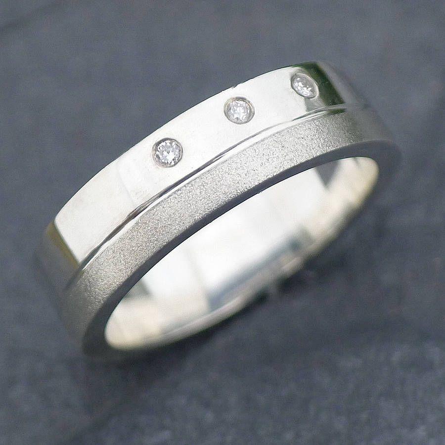 a8259c5a05 handmade men's chunky diamond ring by lilia nash jewellery |  notonthehighstreet.com