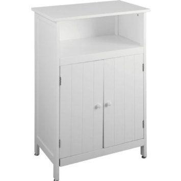 Boston 2 Door Floor Standing Wooden Bathroom Cupboard Cabinet Storage Unit - Traditional White £54.99  sc 1 st  Pinterest & Boston 2 Door Floor Standing Wooden Bathroom Cupboard Cabinet ...
