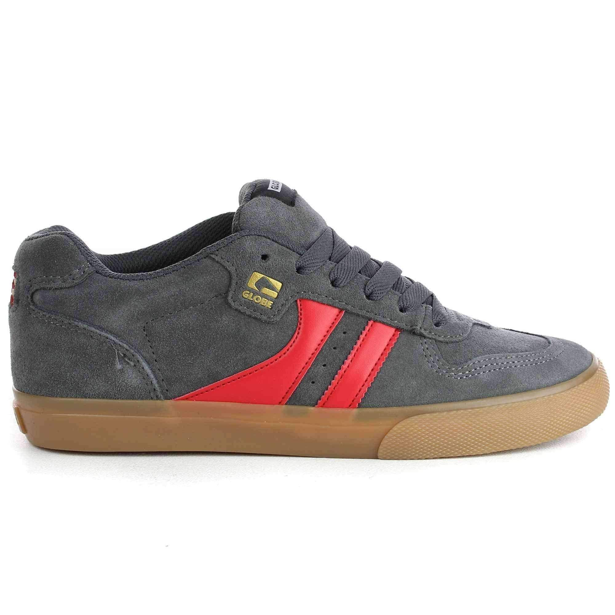 Globe Encore 2 Shoes In Charcoal Gum Red In 2020 Mens Skate