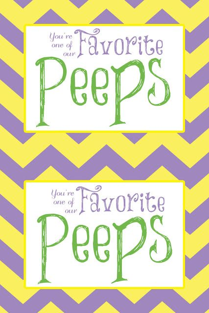 Free printable youre one of our favorite peeps visiting free printable youre one of our favorite peeps visiting teaching hand out staff giftsstudent negle Images