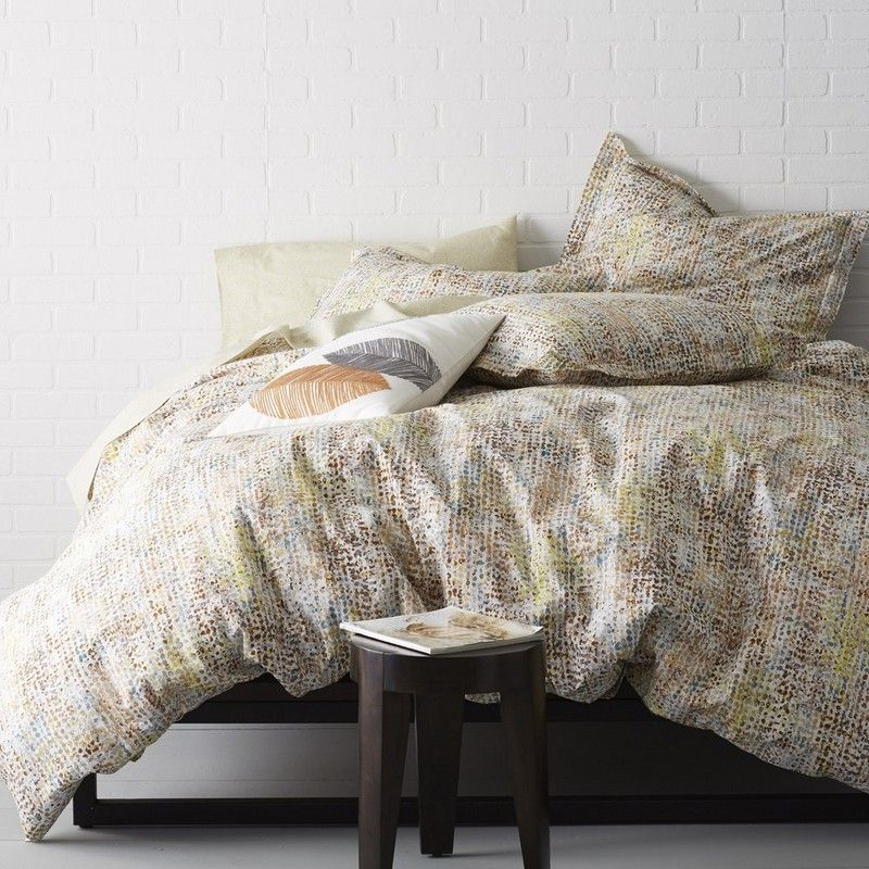 Season Spanning Duvet Cover Designed In An Abstract Motif