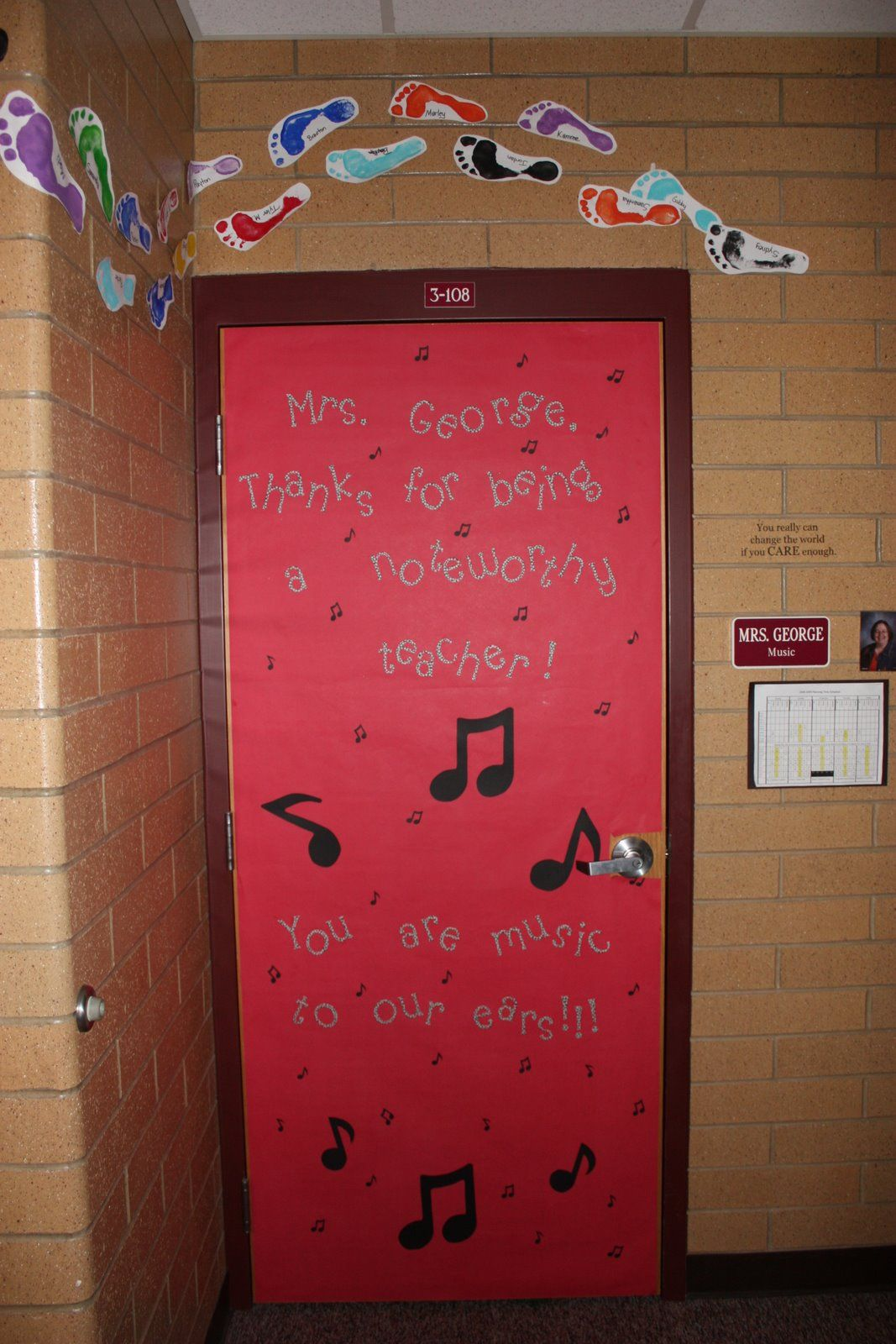 Ms Mrs Thanks For Being A Noteworthy Teacher Classroom Door