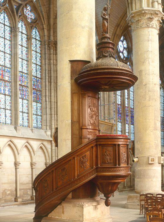 Cathedrale Saint Etienne De Chalons En Champagne Antique Wall Clock Grand Est Church Furniture