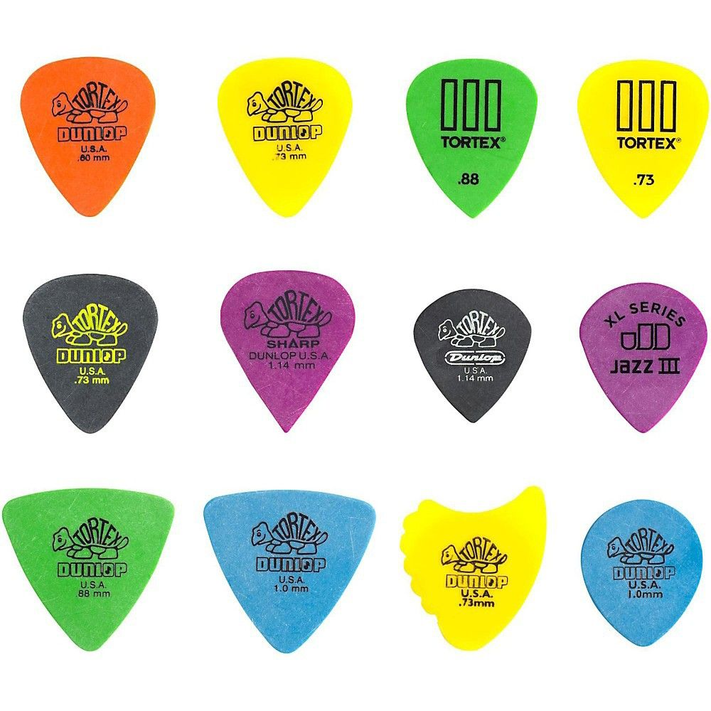 Dunlop Pvp110 Pick Tortex Variety 12 Pack Guitar Picks Guitar