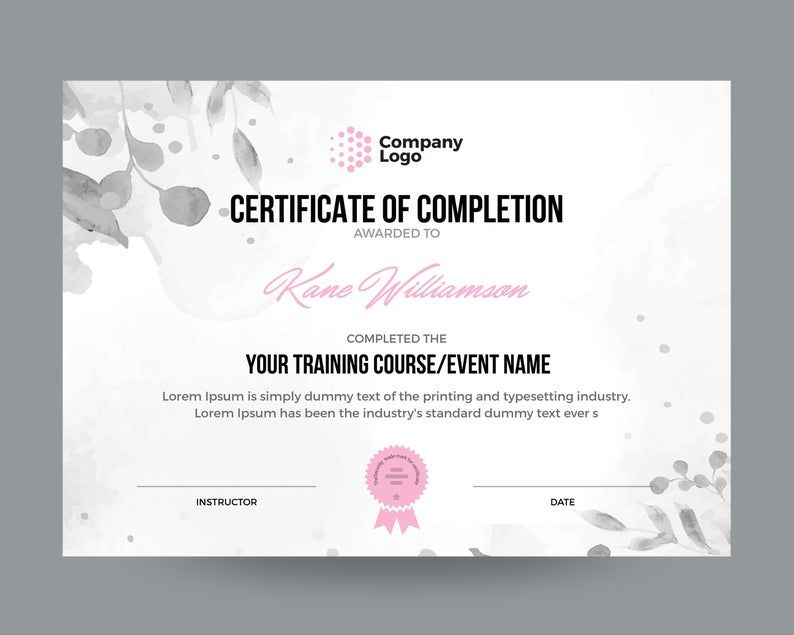 Certificate Template Instant Download Certificate Of Etsy In 2020 Certificate Templates Editable Certificates Certificate Design