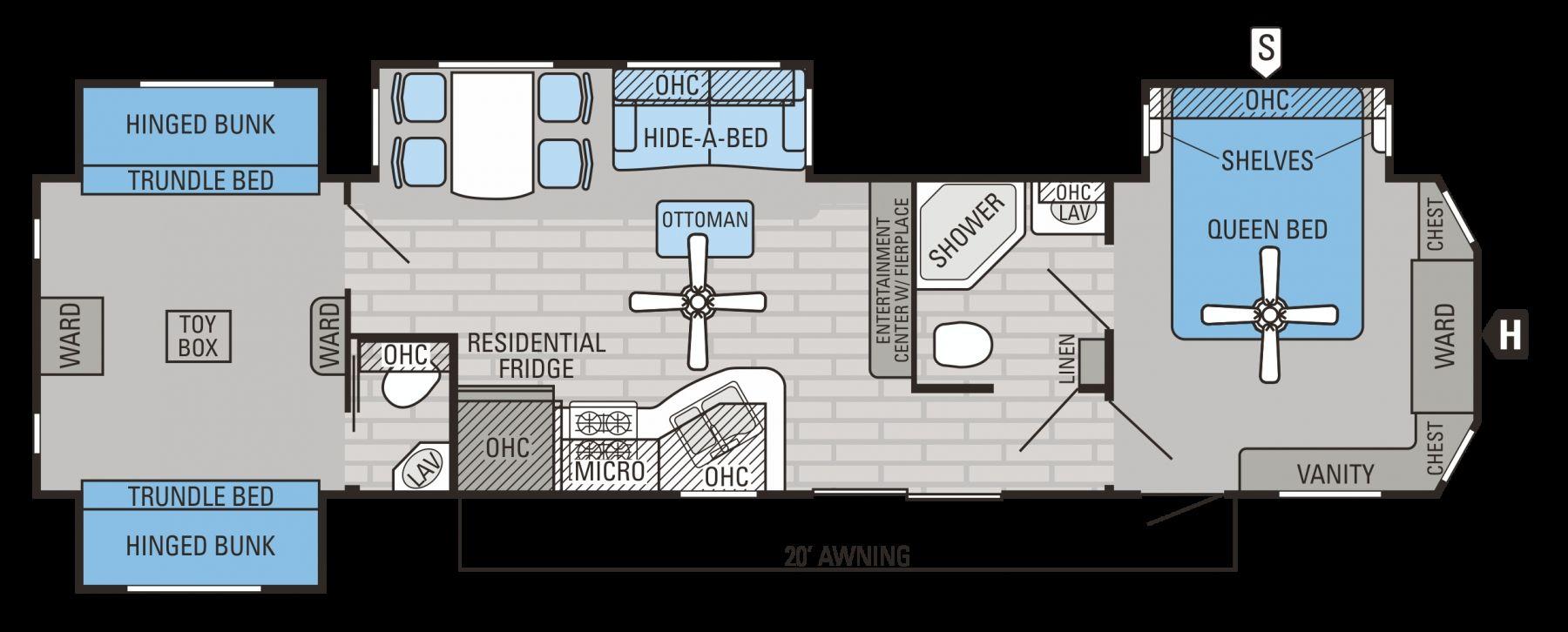 Coleman Travel Trailers Floor Plans >> 30 Amazing Image of Unique Travel Trailer Floor Plans ...