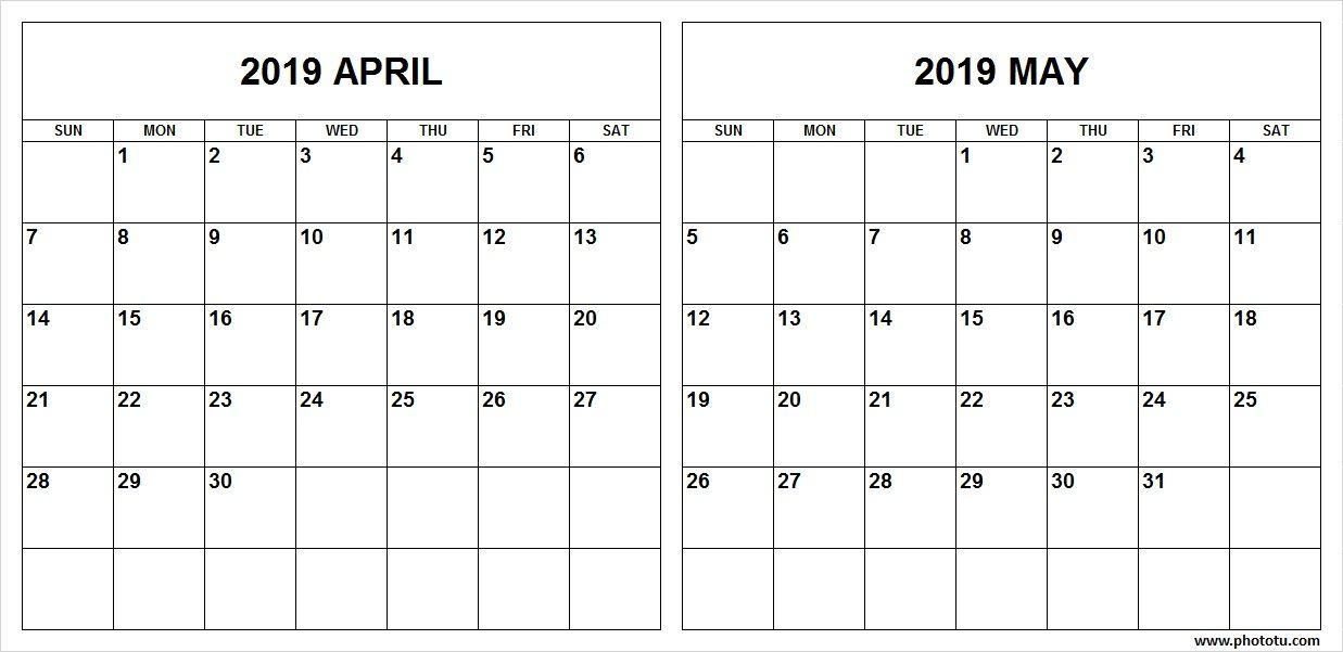 April 2019 Calendar Template Printable In Pdf Word Excel