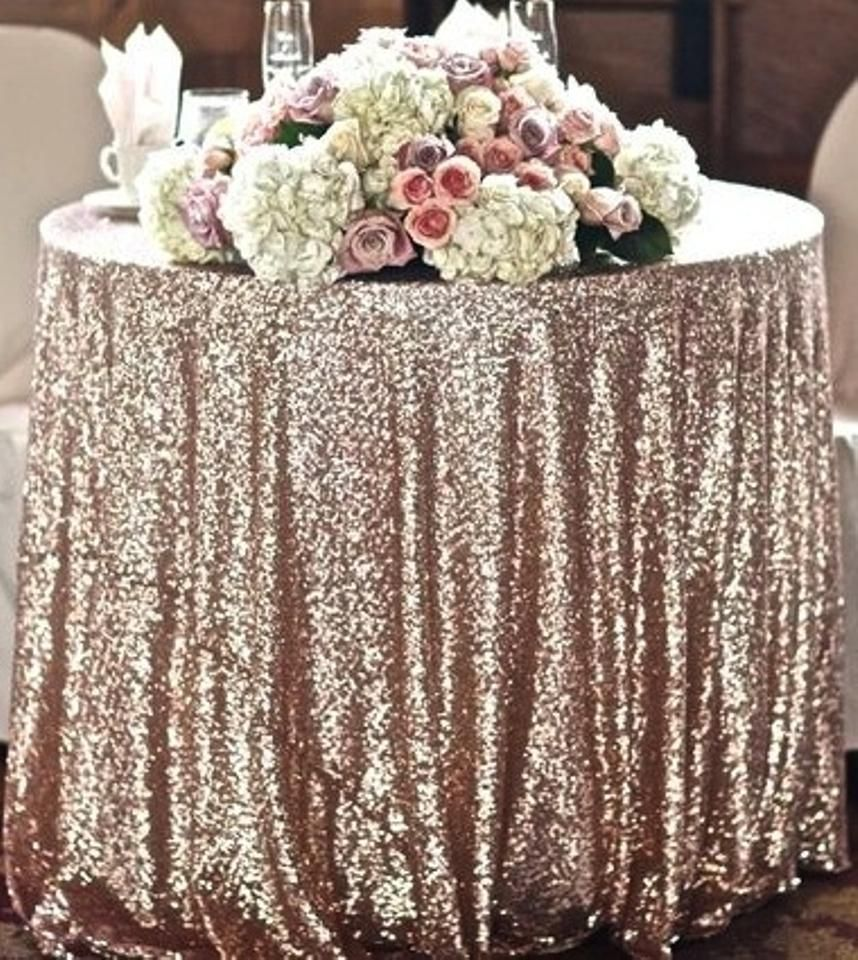 Champagne Gold Sequined Table Cloth