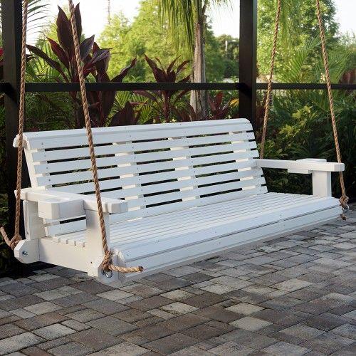 Hp Swings Heavy Duty 800 Lb Roll Comfortable Porch Swing With