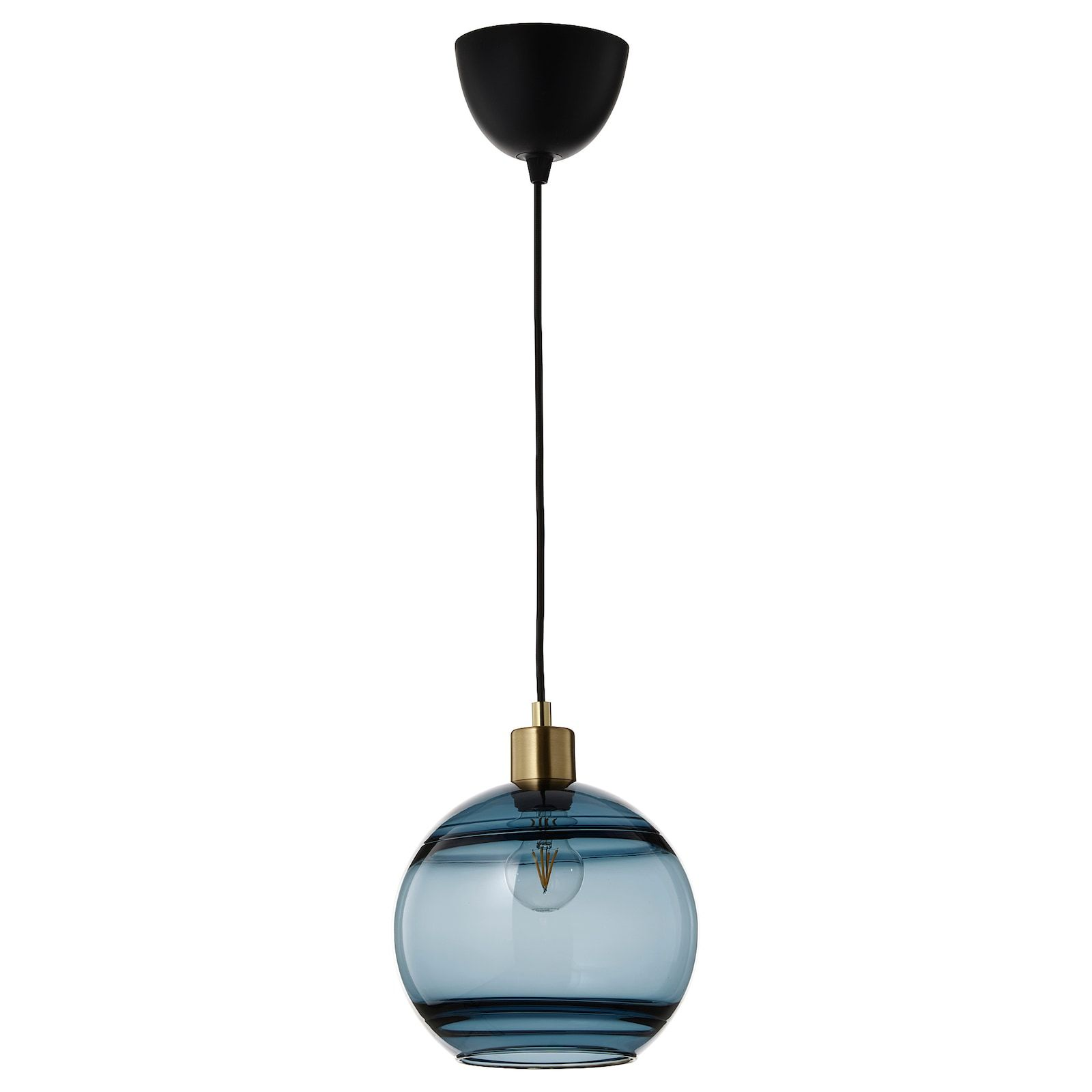 Fundshult Pendant Lamp Shade Blue Glass Lined Ikea Pendant Lamp Shade Pendant Lamp Lamp Shade