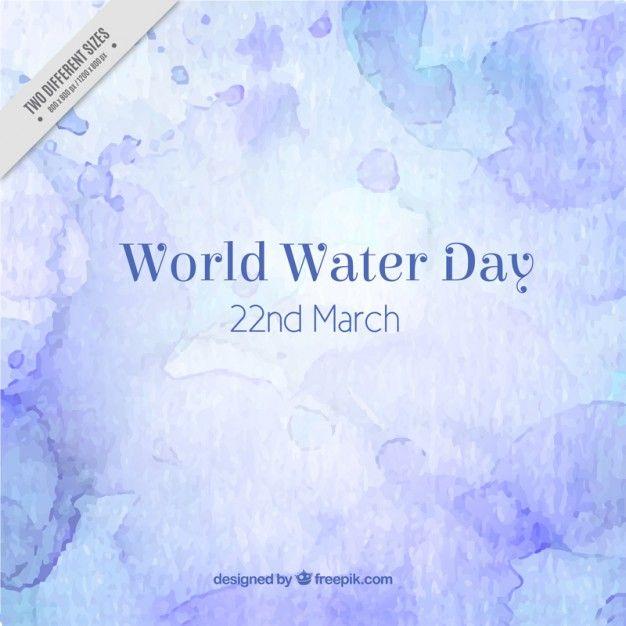 acuarela artístico fondo Día Mundial del Agua | Descargar Vectores gratis