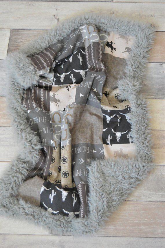 Cowboy Baby Blanket - Western Baby Blanket - Boy Baby Blanket - Cowboy Crib Blanket - Baby Shower Gift - Cowboy Nursery - Cowboy Baby Gift #babyboyblankets